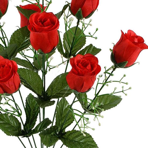 Букет искусственные бутоны роз, 54см