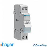 Переключатель I-0-II с общим выводом снизу 1 полюс 25А 230W SFB125 Hager