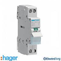 Переключатель I-II 1 полюс 16А 230W с общим выводом снизу SFL116 Hager
