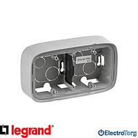 Коробка двойная для накладного монтажа алюминиевая Valena ALLURE Legrand