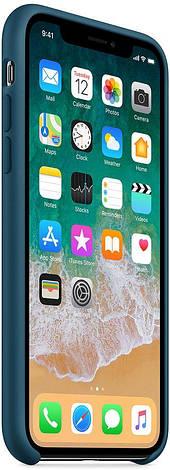 """Чехол силиконовый для iPhone X. Apple Silicone Case, цвет """"Космический синий"""", фото 2"""