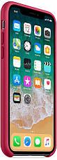 """Чехол силиконовый для iPhone X. Apple Silicone Case, цвет """"Красная роза"""", фото 2"""