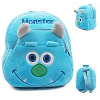 Детский рюкзак Монстр, плюшевый рюкзак Monster, фото 1