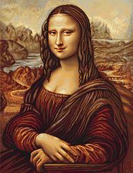 """Набор для вышивания крестиком (портреты) """"Мона Лиза. Джоконда"""". Художник Леонардо Да Винчи"""