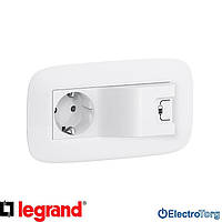 Розетка с заземлением и USB 16AX белая Valena LIFE / ALLURE Legrand
