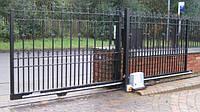 Ворота откатные на опорном ролике 5200-6000
