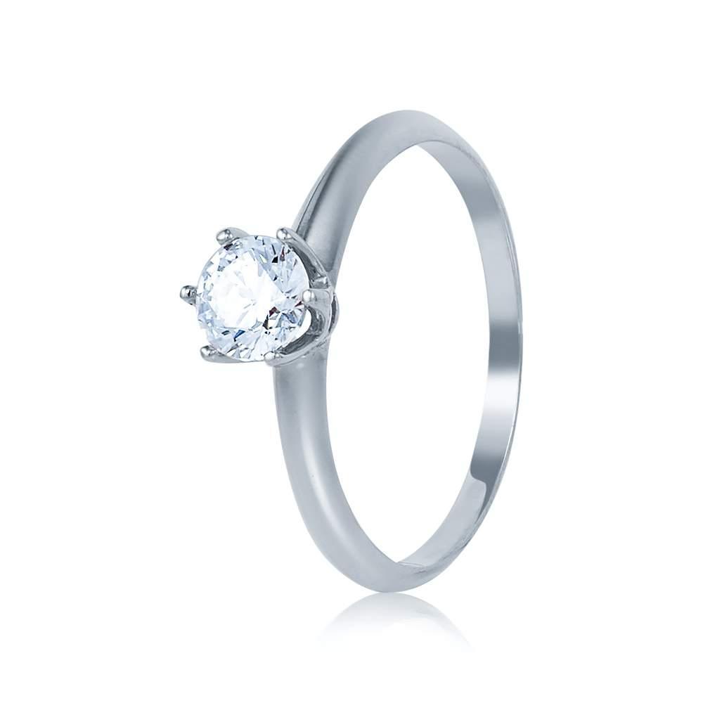 """Кольцо из белого золота с бриллиантом """"Аура"""", КД7541/1 Эдем"""