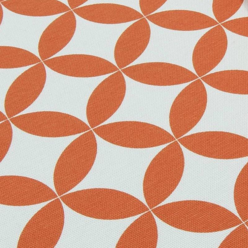 Декоративная ткань Арена аквамарин с узором Оранжевый