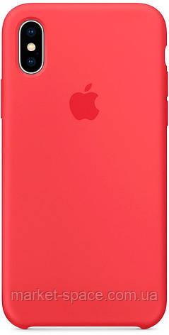 """Чехол силиконовый для iPhone X. Apple Silicone Case, цвет """"Спелая малина"""", фото 2"""