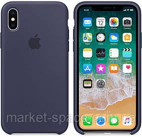 """Чехол силиконовый для iPhone X. Apple Silicone Case, цвет """"Тёмно-синий"""", фото 2"""