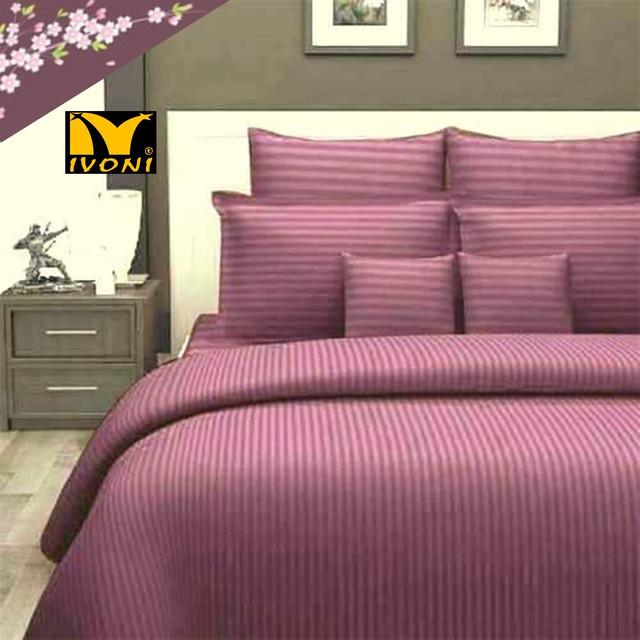 """Наволочки. Коллекция """"Elite Satin Stripe 1х1 cm Purple"""". Страйп-Сатин (Турция). Хлопок 100%"""