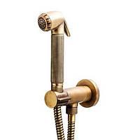 Гигиенический душ цвет бронза скрытого монтажа Bossini Nikita Mixer Set