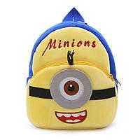 Детский плюшевый рюкзак Миньон, Minions, фото 1