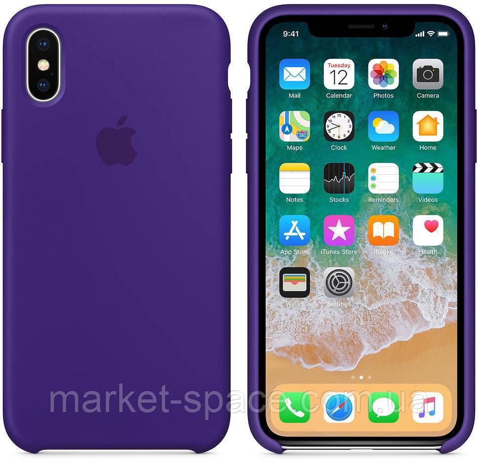 """Чехол силиконовый для iPhone X. Apple Silicone Case, цвет """"Ультрафиолет"""""""