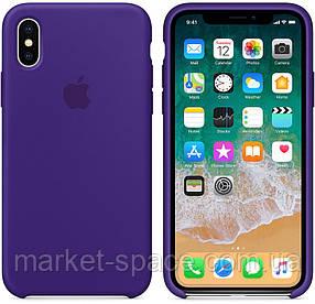 """Чехол силиконовый для iPhone X. Apple Silicone Case, цвет """"Ультрафиолет"""", фото 2"""