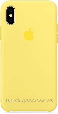 """Чехол силиконовый для iPhone X. Apple Silicone Case, цвет """"Холодный лимонад"""", фото 2"""