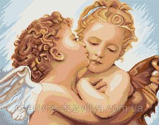 """Набор для вышивания крестиком """"Первый поцелуй"""". Художник Вильям Бугро"""