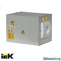 Ящик с понижающим трансформатором ЯТП-0,25 (2 автомата) 220В 12В УХЛ4 IP30 ИЭК(IEK)