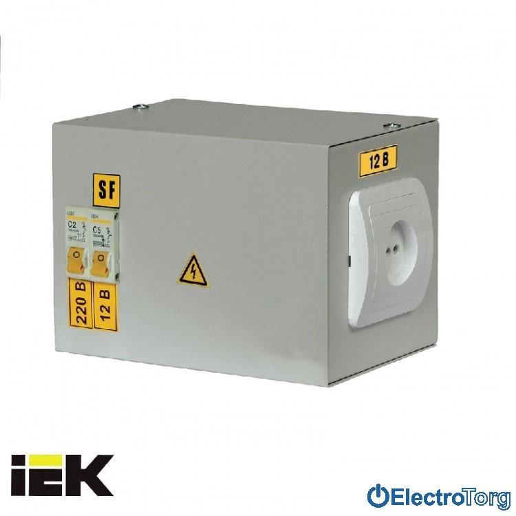 Ящик с понижающим трансформатором ЯТП-0,25 (2 автомата) 220В 24В УХЛ4 IP30 ИЭК(IEK)