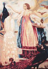 """Набор для вышивания крестиком """"Девушка, кормящая павлинов"""". Художник Фредерик Лейтон"""