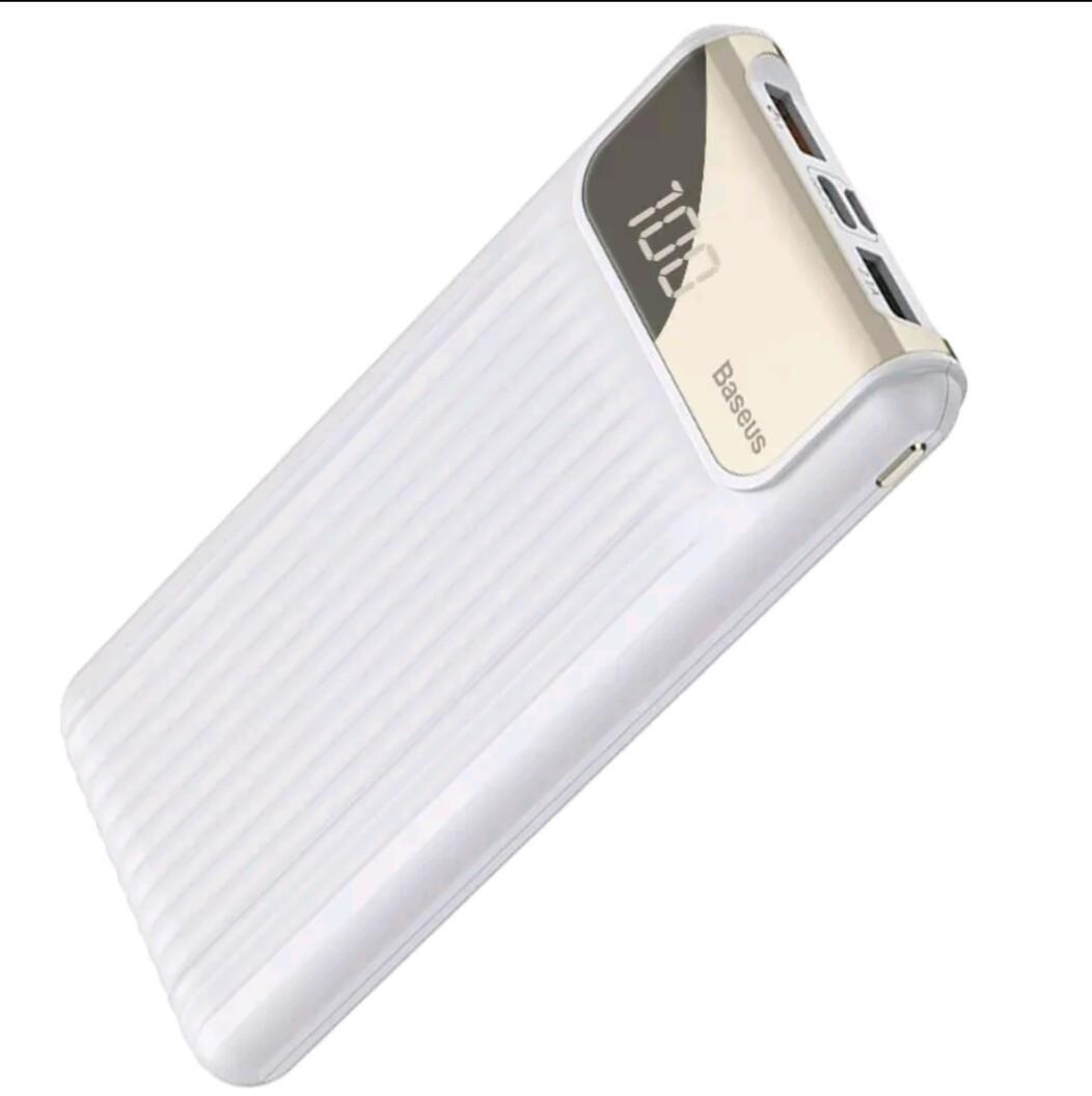 Внешний аккумулятор Power bank BASEUS 10000 mAh Quick Charge 3.0 с ЖК дисплеем White