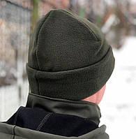 Флисовая шапка Polar Watch Cap двухслойная Fleece Elite (олива)