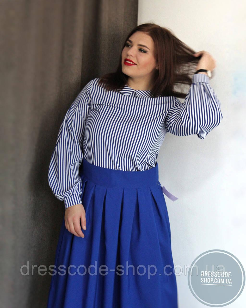 236c74aaa05 Юбка синяя миди в складку - Dresscode-shop в Житомирской области