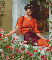 """Набор для вышивания крестиком (люди) """"Летние цветы"""". Художник Джон Вильям Годвард"""