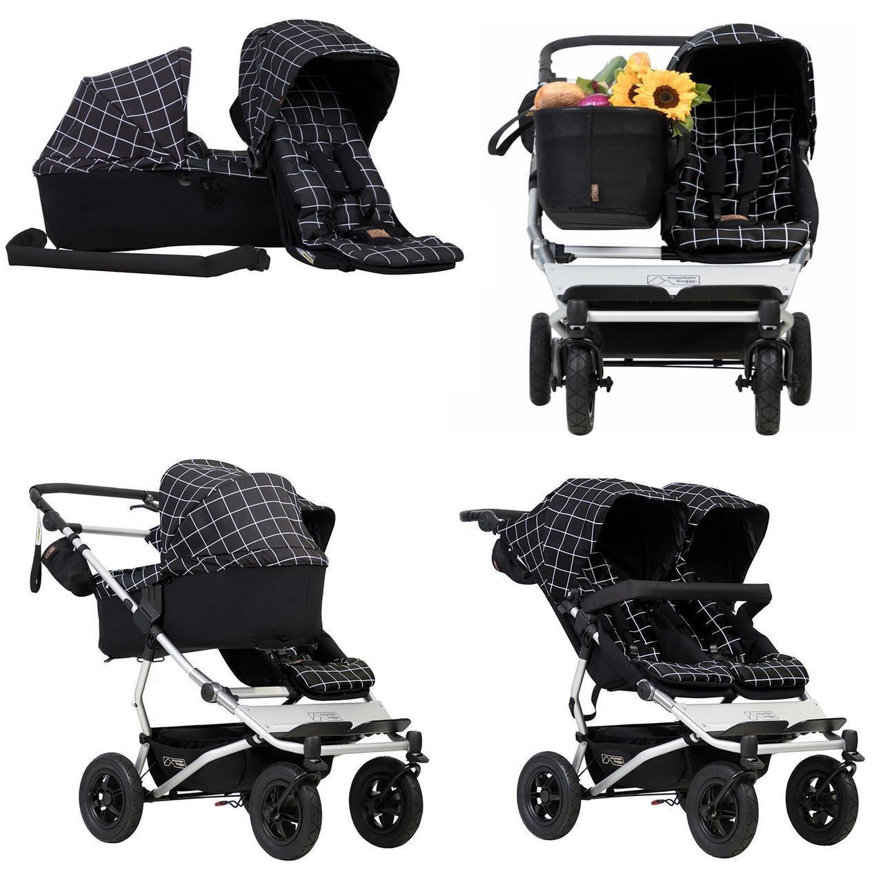 Детская коляска 2 в 1 для двойни Mountain buggy Duet