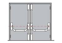 Антипаника для 2-створчатых противопожарных дверей путей эвакуации Dorma PHA-2000 3-точечного запирания