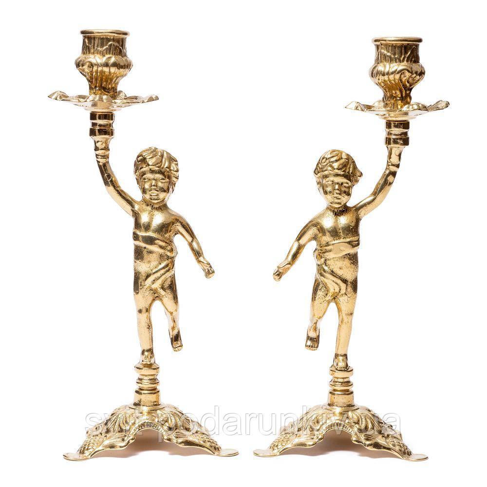 Пара подсвечников на 1 свечу Ангел Alberti Livio