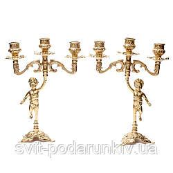 Пара подсвечников на 3 свечи Ангел Alberti Livio