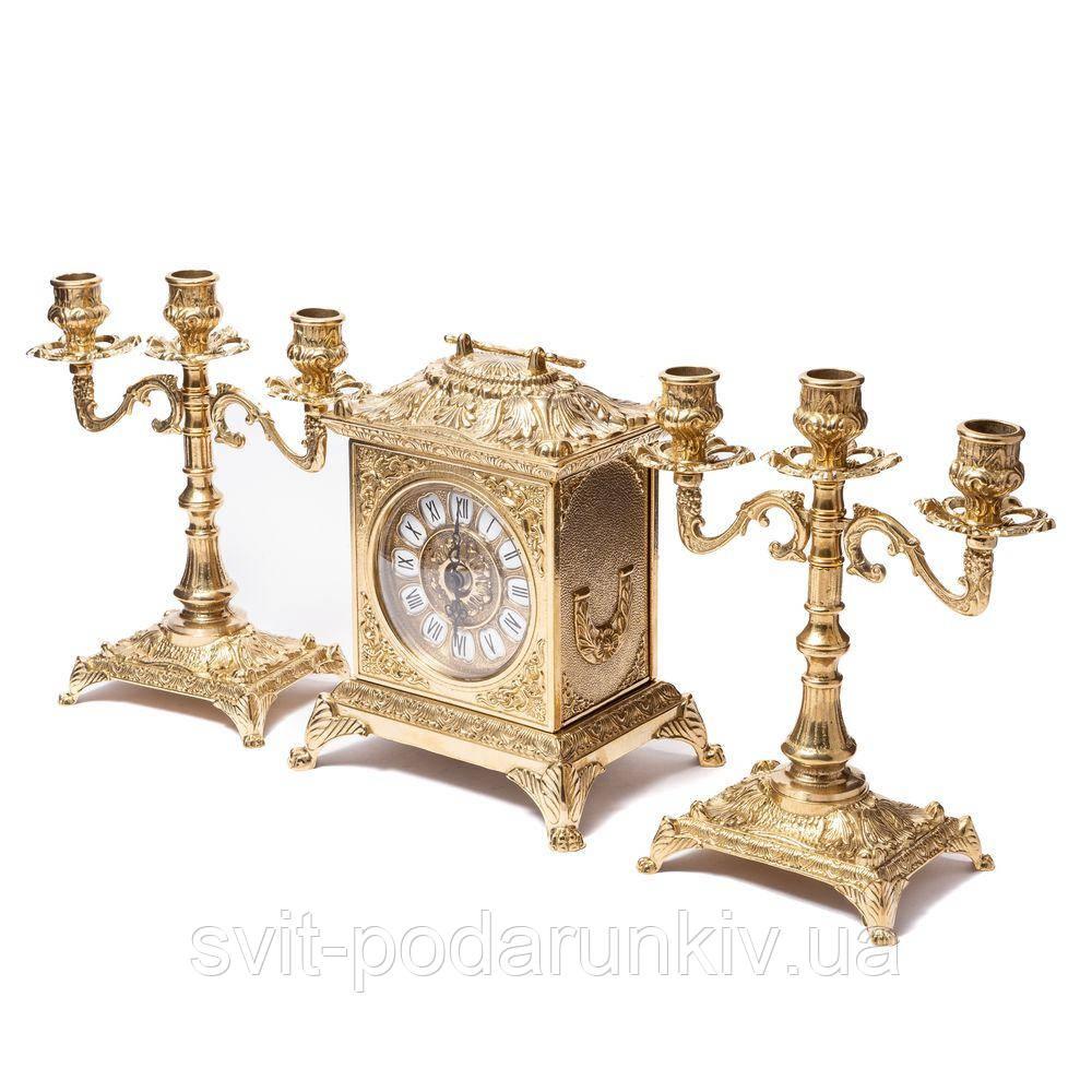 Каминные часы и 2 канделябр на 3 свечи 82.108-80.410 Италия