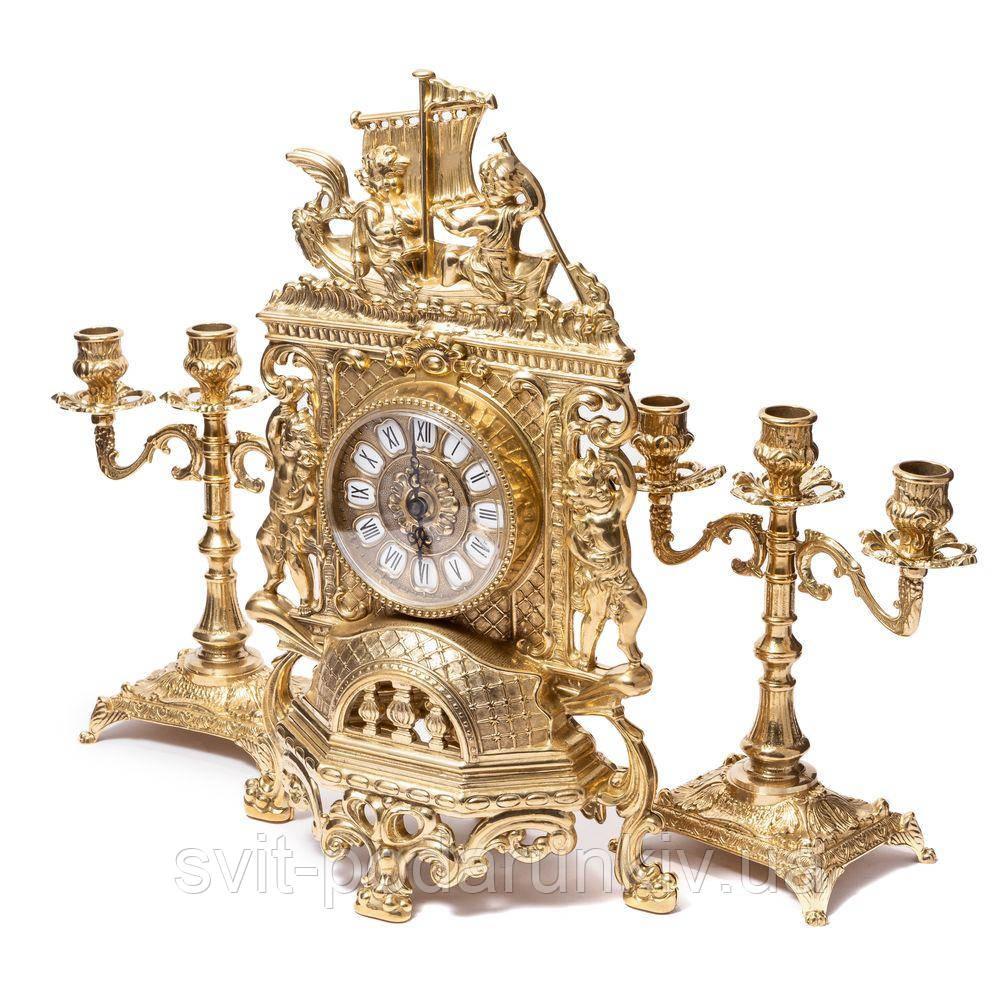 Каминные часы и подсвечники 82.101-80.410 Италия