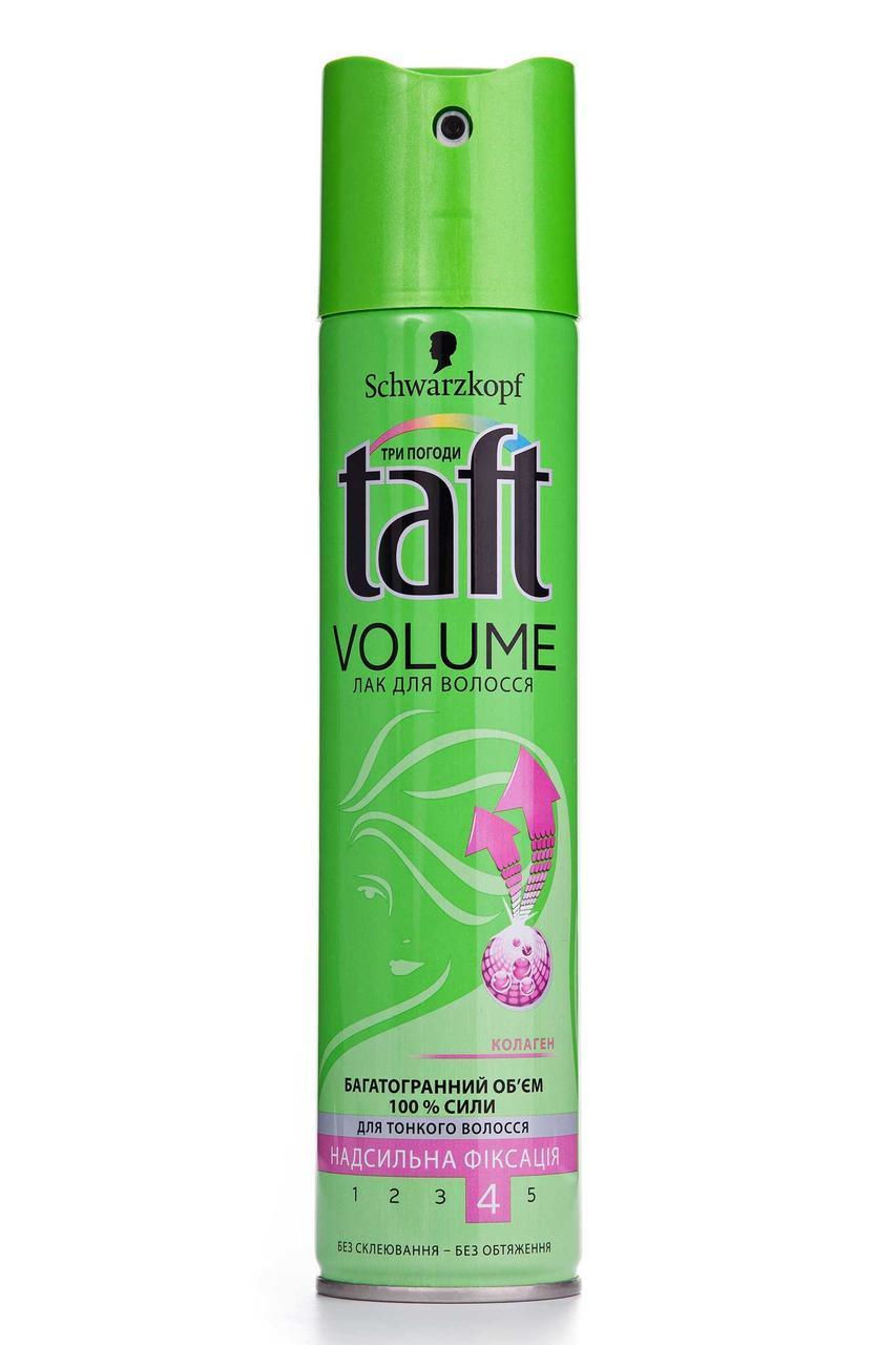 """Лак для волос Taft """"Volume"""" 4 cверхсильная фиксация (250мл.)"""