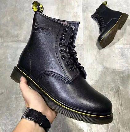 Женские и мужские зимние ботинки Dr. Martens 1460 Black с мехом ... b4a910c691c53