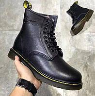 Женские и мужские зимние ботинки Dr. Martens 1460 Black с мехом 3e8177b2c3a1f