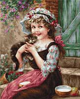 """Набор для вышивания крестиком (дети) """"Маленький котенок"""". Художник Эмиль Вернон"""