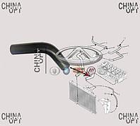 Патрубок радиатора охлаждения, верхний, Geely CK1F [с 2011г.], 1602198180, Original parts