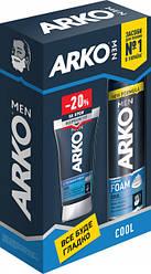 Набор Arko Men пена для бритья Cool 200 мл и крем после бритья Cool 50 мл со скидкой 20% 2018