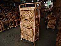 Комод плетеный из лозы на 4 ящиками