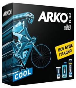 Набор Arko Men пена для бритья Cool 200 мл + гель для душа Cool 250мл + крем после бритья Cool 50 мл со скидкой 50%