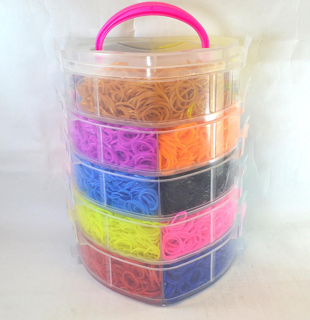 Пяти ярусный набор резинок для плетения браслетов 13000