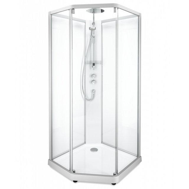 Нужно дешевле? Звоните. Ido SHOWERAMA 10-5 Comfort душ. кабина пятиугольная 90*90см, профиль серебристый,