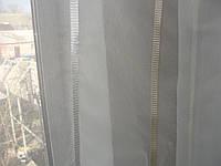 Тюль Polosa  молочная с бежевыми полосками, фото 1