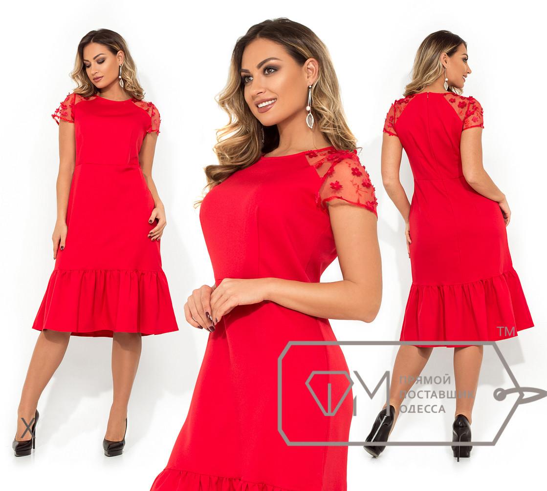 58703cd93151136 Элегантное нарядное женское платье в больших размерах