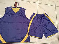 Форма баскетбольна р. 48-50 (двостороння бузкова/жовта), фото 1
