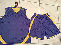 Форма баскетбольная р. 48-50 (двусторонняя сиреневая/желтая), фото 1