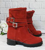 Красные замшевые ботинки от производителя, фото 1