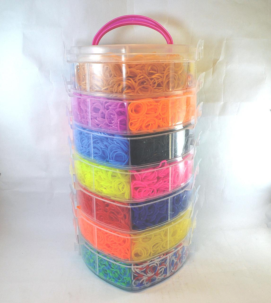 Семи ярусный набор резинок для плетения браслетов 19000